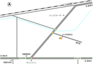 高知県南国市後免町分譲住宅地図