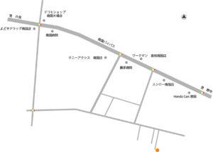 南国市大埇分譲地MAP